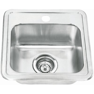 Yosemite Home Decor Stainless Steel Topmount Single Bowl Bar Sink