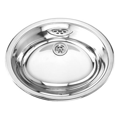 Yosemite Home Decor Stainless Steel Double Layer Oval Bathroom Sink