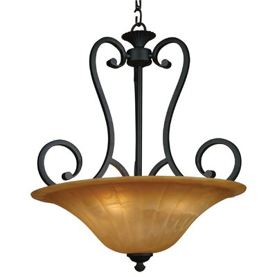 Yosemite Home Decor Florence 4 Light Foyer Inverted Pendant
