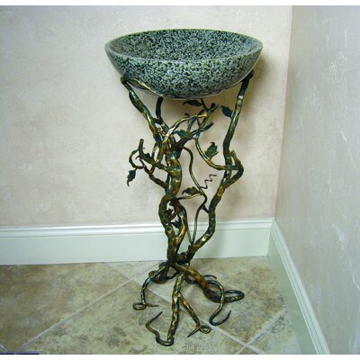 "Yosemite Home Decor Firestine 32"" x 15"" Hand Made Pedestal Sink Set"