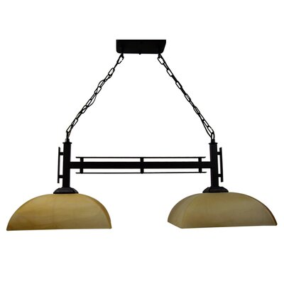 Half Dome 2 Light Kitchen Pendant