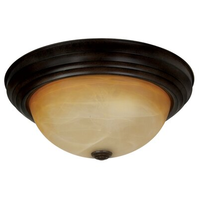 Yosemite Home Decor 2 Light Ceiling Flush Mount