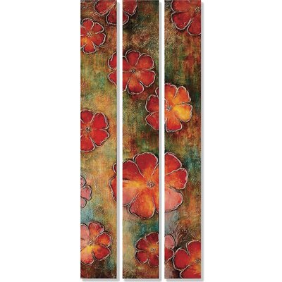 Floral Fascination Canvas Art (Set of 3)