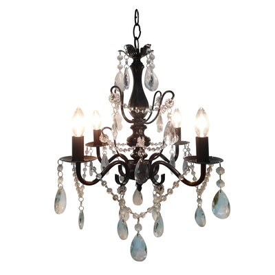 Becca 4 Light Crystal Chandelier