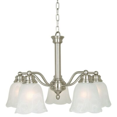 Mahogany 5 Light Chandelier