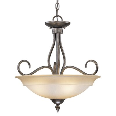 Vaxcel Avon 3 Light Inverted Pendant