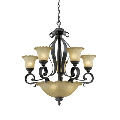 Vaxcel Hapsburg 8 Light Chandelier