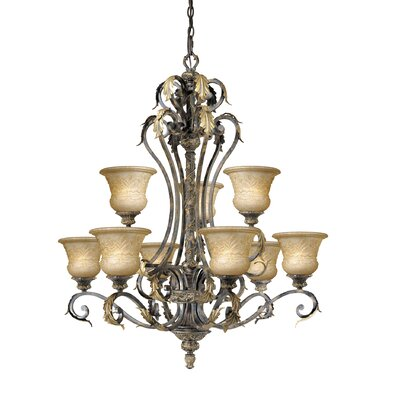 Vaxcel Monaco 9 Light Chandelier