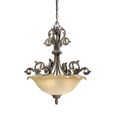 Vaxcel Monte Carlo 4 Light Inverted Pendant