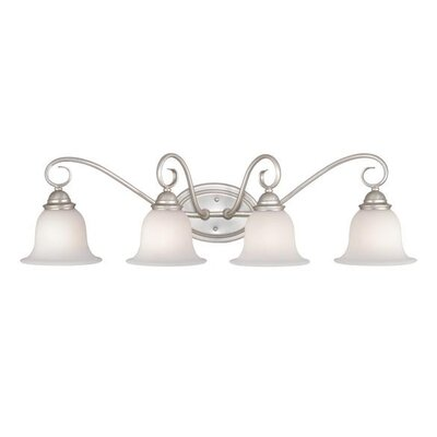 Vaxcel Picasso  Vanity Light in Brushed Nickel