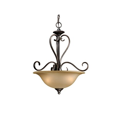 Vaxcel Riviera 3 Light Bowl Inverted Pendant