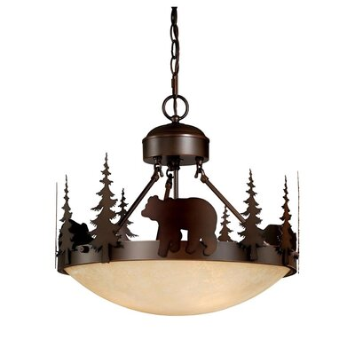 Vaxcel Bozeman 3 Light Inverted Pendant