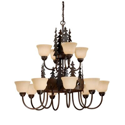 Vaxcel Bozeman 12 Light Chandelier