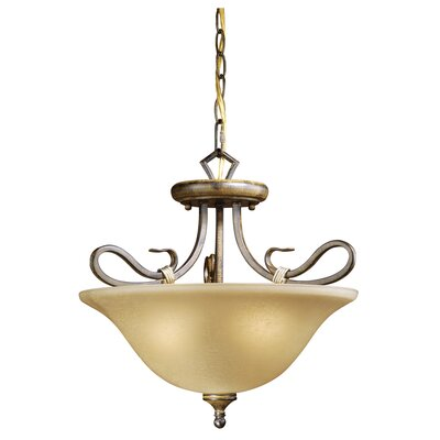 Vaxcel Berkeley 3 Light Semi Flush Mount