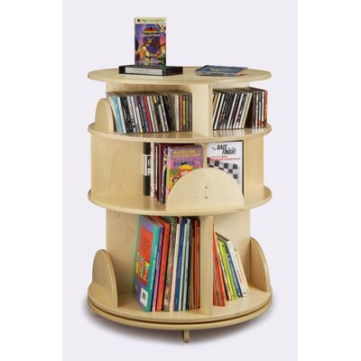 Whitney Brothers 32&quot; H Three Shelf Multimedia Carousel