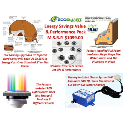 Lifesmart Lifesmart Rock Solid Luna Plug and Play Spa Includes FREE Energy Savings Value & Performance Package