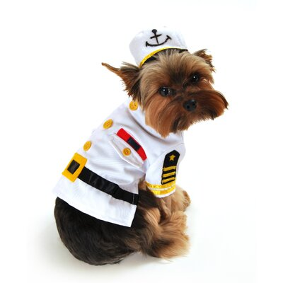 Anit Accessories Sea Captain Dog Costume