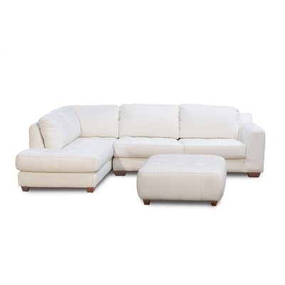 Diamond Sofa Zen Left Leather Chaise Modular Sectional