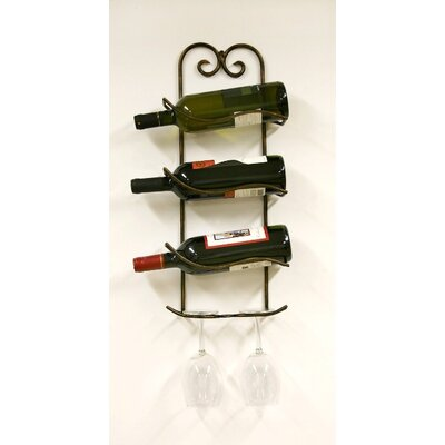 Creations Xiafeng 3 Bottle Wall Mounted Wine Rack Reviews Wayfair