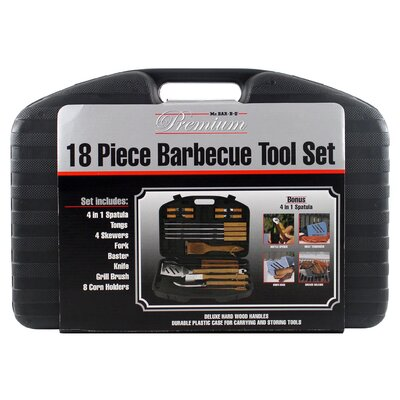 Mr. Bar-B-Q Wood Handle Tool Set (Set of 18)
