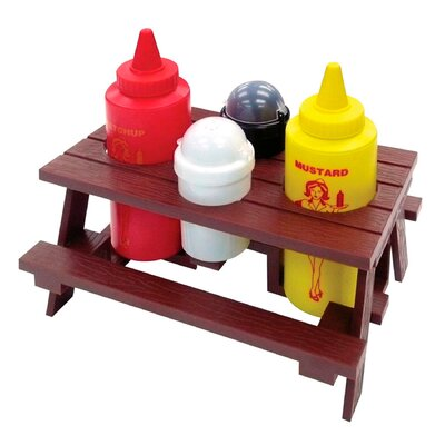 Mr. Bar-B-Q 5 Piece Picnic Table Condiment Set