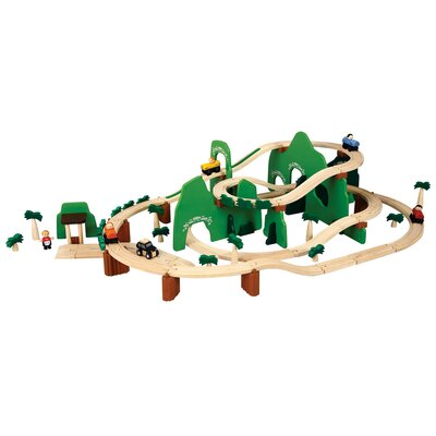 Plan Toys City Road and Rail Play Set - Adventure