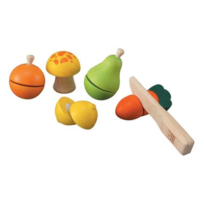 Plan Toys Preschool Fruit and Vegetable Play Set