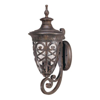 Nuvo Lighting Aston  Arm Up Large Wall Lantern in Dark Plum Bronze