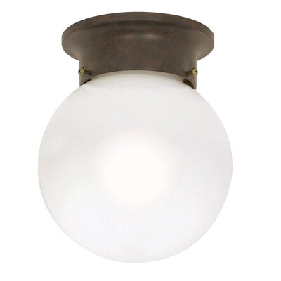 Nuvo Lighting 7.25&quot; 1 Light Ball Semi Flush Mount