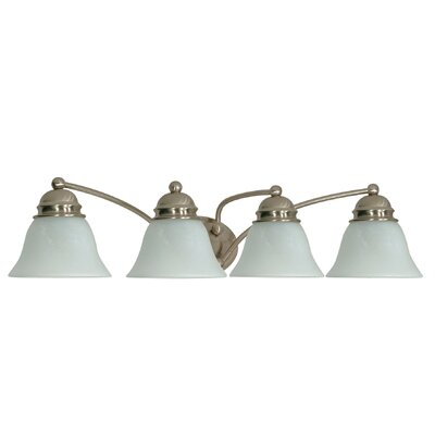 Nuvo Lighting Empire  Vanity Light with Alabaster Glass in Brushed Nickel