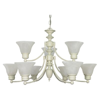 Nuvo Lighting Empire 9 Light Chandelier