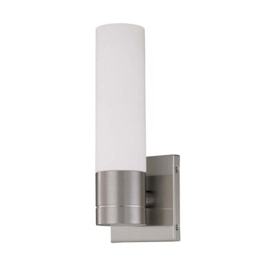 Nuvo Lighting Link  Tube Wall Sconce in Brushed Nickel