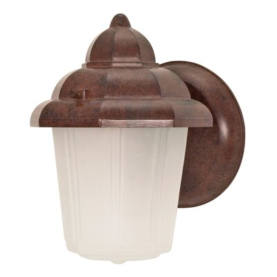 Nuvo Lighting Hood 1 Light Wall Lantern with Glass Shade