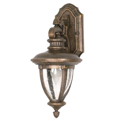 Nuvo Lighting Galeon  Arm Down Wall Lantern in Platinum Gold