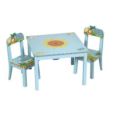 Guidecraft Safari Kids' 3 Piece Table and Chair Set
