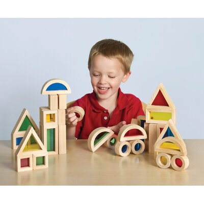 Guidecraft Jr Rainbow 40 Piece Block Set