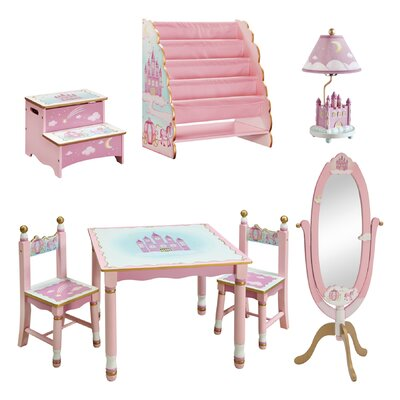 Guidecraft Princess Kids 7 Piece Furniture Set