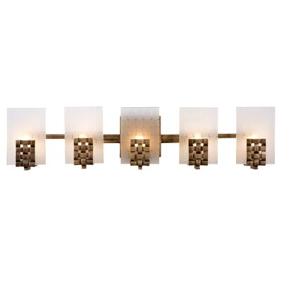 Varaluz Recycled Dreamweaver Bath Light - Five Light