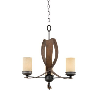 Varaluz Recycled Aizen 3 Light Chandelier