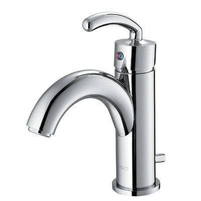Single Hole Bathroom Faucet with Single Scroll Handle - VG01025