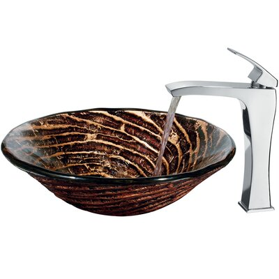 Vigo Caramel Vessel Sink with Faucet