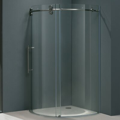 Vigo Frameless Round Neo-Angle Shower Door
