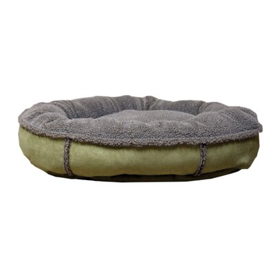 Everest Pet Faux Suede Round Comfy Cup® Dog Bed in Sage