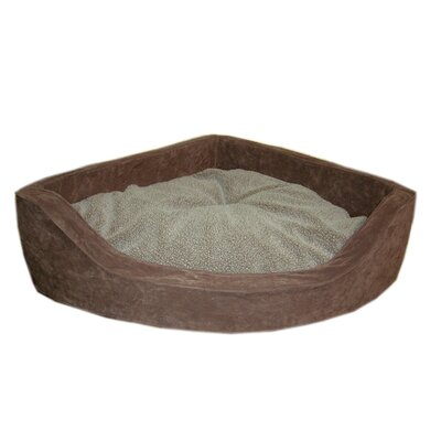 Microfiber Corner Pet Bed in Chocolate