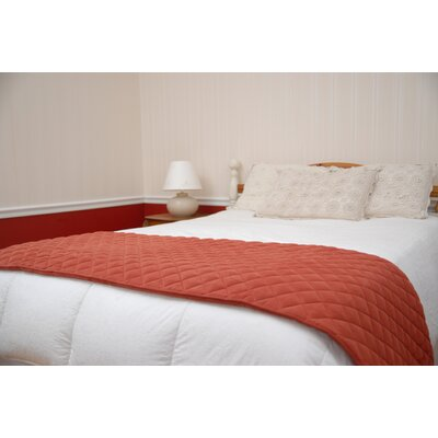 Quilted Bed Scarf with Moisture Barrier in Earth Red