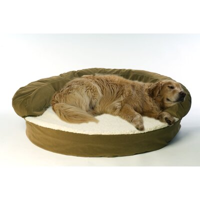 Ortho Sleeper Bolster Dog Bed in Sage