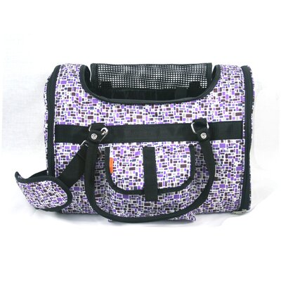 Pet Carrier in Purple Mosaic