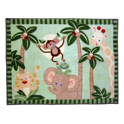 NoJo Jungle Babies Monkey Kids Rug