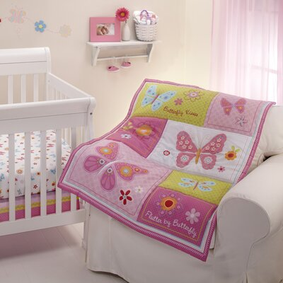 NoJo Butterfly Kisses 4 Piece Crib Bedding Set