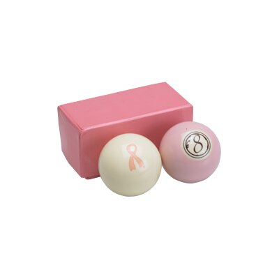 Action Action Billiard Balls Pink Set - Cue Ball and 8 Ball